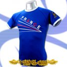 FRANCE BLUE FOOTBALL TEE T-SHIRT SOCCER Size M / E08