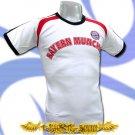 BAYERN MUNCHEN WHITE FOOTBALL TEE T-SHIRT SOCCER Size M / H35
