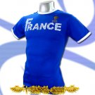 FRANCE BLUE SOCCER RETRO TEE T-SHIRT FOOTBALL Size M / H53