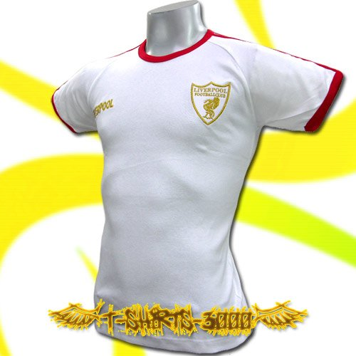 LIVERPOOL GOLD WHITE FOOTBALL COOL T-SHIRT SOCCER Size M / i37
