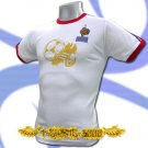 FRANCE GOLD WHITE SOCCER ATHLETIC T-SHIRT FOOTBALL Size M / i56