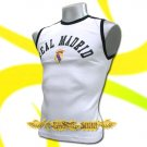 REAL MADRID WHITE FOOTBALL SLEEVELESS T-SHIRT SOCCER Size M / J57