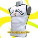 REAL MADRID WHITE FOOTBALL SLEEVELESS T-SHIRT SOCCER Size M / J57
