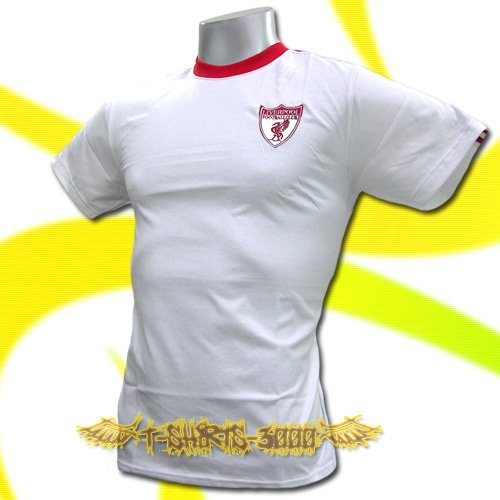 LIVERPOOL WHITE #8 FOOTBALL COOL T-SHIRT SOCCER Size M / J65