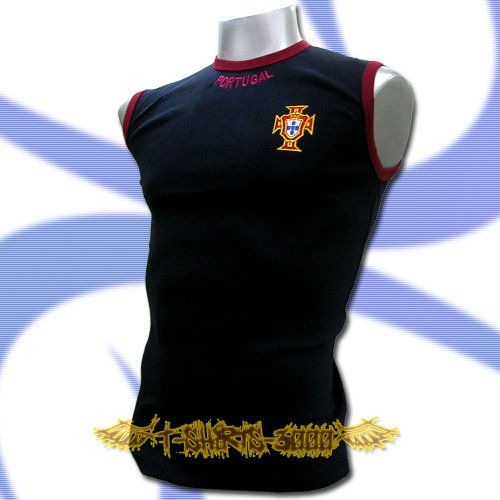 PORTUGAL DARK BLUE COOL SLEEVELESS T-SHIRT SOCCER Size M / L35
