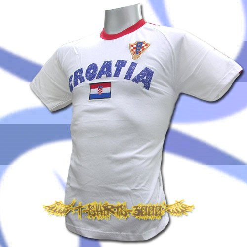 CROATIA WHITE COOL FOOTBALL T-SHIRT SOCCER Size L / L62