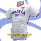 CROATIA WHITE COOL FOOTBALL T-SHIRT SOCCER Size L / L62