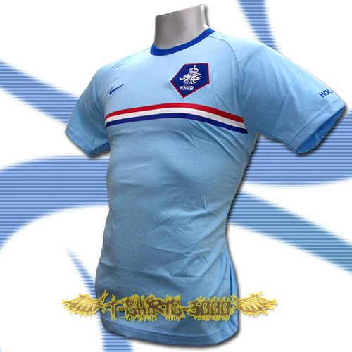 HOLLAND NETHERLANDS BLUE FOOTBALL T-SHIRT SOCCER Size L / L98