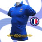 FRANCE BLUE FOOTBALL POLO T-SHIRT SOCCER Size M / M34