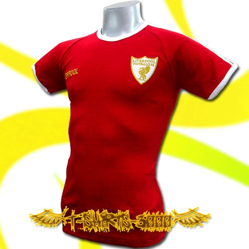 LIVERPOOL GOLD RED FOOTBALL COOL T-SHIRT SOCCER / i36
