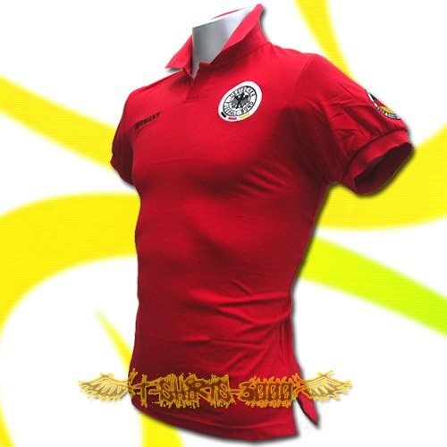 GERMANY RED GERMAN POLO T-SHIRT SOCCER SIZE L / M31