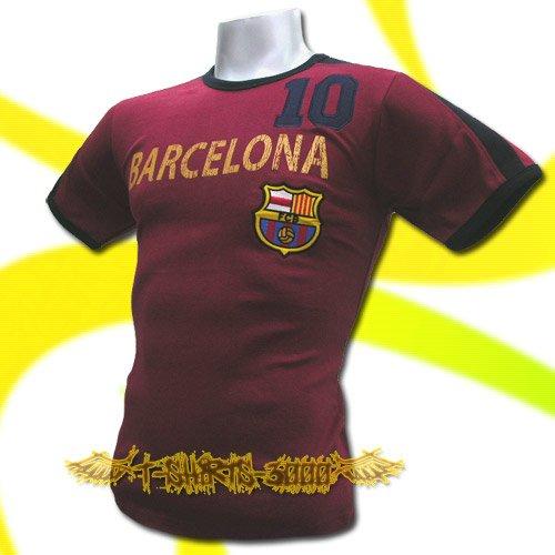 BARCELONA RED FOOTBALL ATHLETIC T SHIRT SOCCER / K81