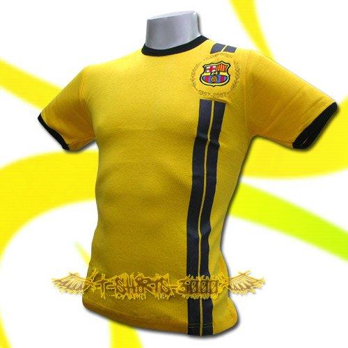 BARCELONA YELLOW #14 FOOTBALL TEE T SHIRT SOCCER Size M / K85
