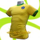 BRAZIL YELLOW BRASIL FOOTBALL COOL T SHIRT SOCCER Size M / K90