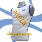 SWEDEN WHITE SLEEVELESS FOOTBALL T SHIRT SOCCER Size M / L22