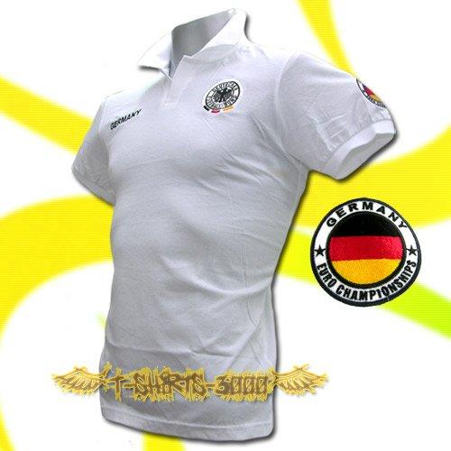 GERMANY WHITE GERMAN POLO T-SHIRT SOCCER SIZE M / M29