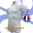 FRANCE WHITE FOOTBALL POLO T-SHIRT SOCCER SIZE L / M38