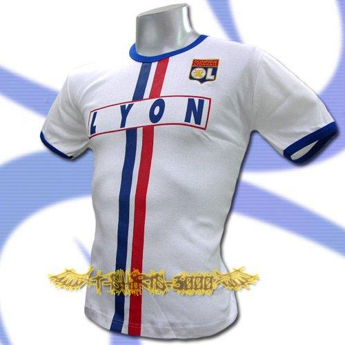 OLYMPIQUE LYONNAIS WHITE FOOTBALL TEE T-SHIRT SOCCER Size M / J52