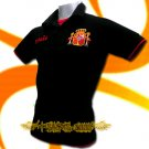 SPAIN BLACK ESPANA FOOTBALL POLO T-SHIRT SOCCER  Size M / M71