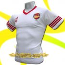 ARSENAL WHITE SOCCER TEE T-SHIRT FOOTBALL Size M / J86