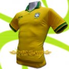 BRAZIL YELLOW BRASIL FOOTBALL POLO T SHIRT SOCCER Size M / K36