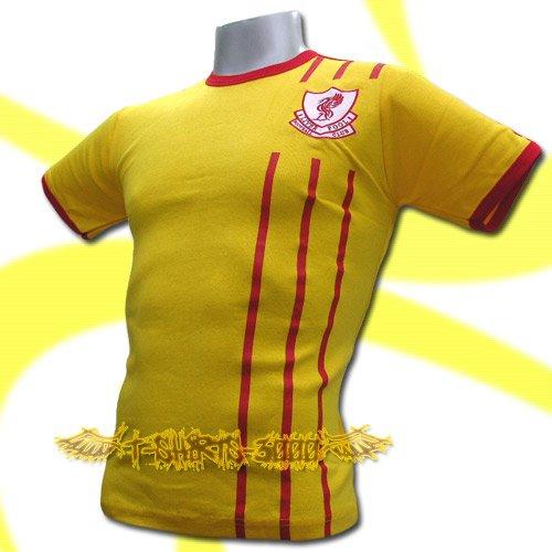 LIVERPOOL YELLOW #8 FOOTBALL T SHIRT TEE SOCCER Size M / K88
