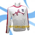 ENGLAND WHITE LONG SLEEVE SOCCER T SHIRT FOOTBALL Size M / A04
