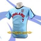 ENGLAND BLUE SOCCER TEE T SHIRT FOOTBALL Size M / A61