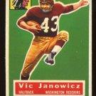 1956 Topps Football # 13 Vic Janowicz Washington Redskins