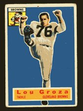 Lou Groza 1956 Topps Football # 9 Cleveland Browns Tackle