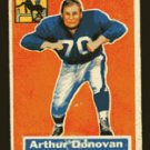 Arthur Donovan 1956 Topps Football # 36 Baltimore Colts Tackle