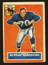 Arthur Donovan 1956 Topps Football # 36 Baltimore Colts Tackle