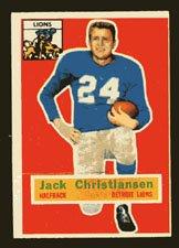 1956 Topps Football # 20 Jack Christiansen Detroit Lions Halfback