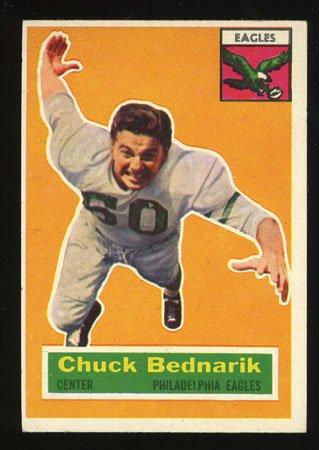 Chuck Bednarik 1956 Topps Football # 28 Philadelphia Eagles Center