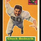 Chuck Bednarik 1956 Topps Football # 28 Philadelphia Eagles Center