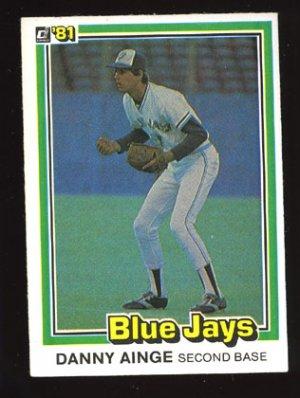 Danny Ainge Rookie, 1981 Donruss # 569, Blue Jays