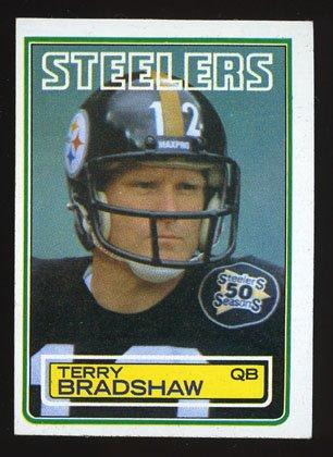 Terry Bradshaw 1983 Topps Football # 358 Pittsburg Steelers