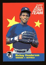 Rickey Henderson, 1986 Fleer All Star Insert # 7 of 12