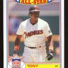 Tony Gwynn, 1987 Topps '86 All Star Glossy # 6