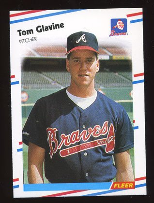 Tom Glavine Rookie 1988 Fleer Baseball # 539 Pitcher Atlanta Braves