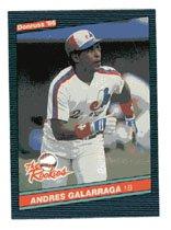 Andres Galarraga 1986 Donruss Rookies # 7 First Base Montreal Expos