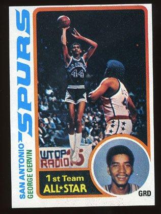 George Gervin 1978-79 Topps Basketball # 20 San Antonio Spurs Guard