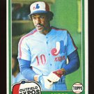 Andre Dawson 1981 Topps # 125 Outfield Montreal Expos