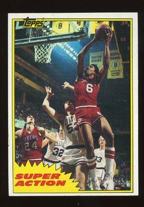 Julius Erving 1981-82 Topps East # 104 Philadelphia