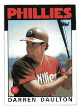 Darren Daulton Rookie 1986 Topps # 264  Catcher Philadelphia Phillies