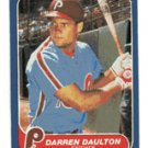 Darren Daulton Rookie 1986 Fleer # 438 Catcher Philadelphia Phillies