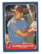 Darren Daulton Rookie 1986 Fleer # 438 Catcher Philadelphia Phillies