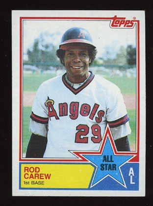 Rod Carew All Star 1983 Topps # 386 First Base Angels