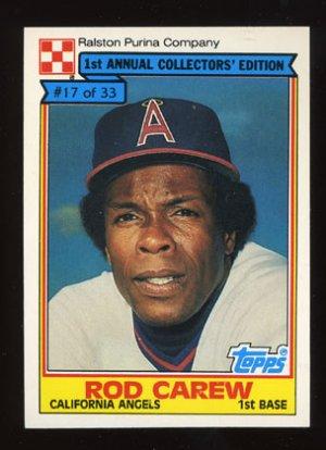 Rod Carew 1984 Ralston Purina # 17 of 33