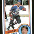 Jari Kurri 1984-85 Topps # 52 Right Wing Oilers